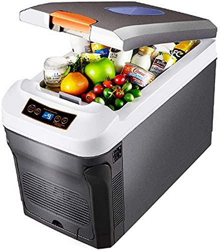 Refrigerador Refrigerador Congelador Mini Refrigerador de Coche 12V-24V / 220V-240V Refrigerador de Coche Caja de refrigeración Doble Uso Caliente/Frío Congelador pequeño portátil, 35L