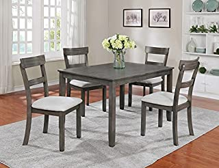 low priced 76f1c 23daf Amazon.com: Grey - Table & Chair Sets / Kitchen & Dining ...