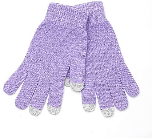 ADSVMEL Knitted Purple Glove Cold Weather for Woman Glove Warm Gloves Thick Glove Lining Fleece Winter Gloves Touch Screen Cold Warm Outdoor Gloves