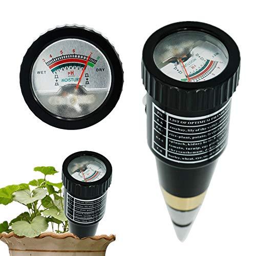 ZHANGXJ Probadores de la Tierra de Mano del Suelo Humedad Humedad Medidor de Ph Tester para el Jardín de Suelo de Metal de la Sonda VT-05 10-80% Higrómetro 18% de Descuento