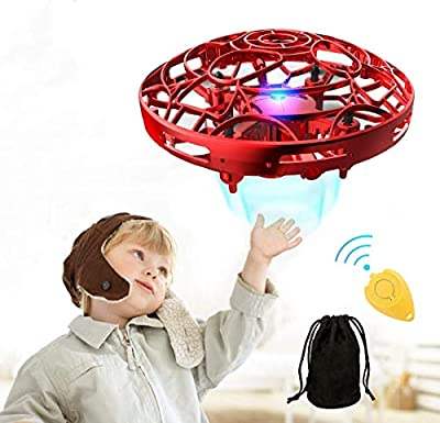 Pickwoo Drone for kids, P10 Mini UFO Drone Toy Hand Controlled Induction Levitation UFO Drone with LED Light, Kids Flying Ball Drone Indoor Outdoor games,Drone Toys Gift for Boys Girls