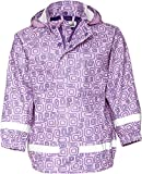Playshoes Mädchen Regen-Mantel Ornament Regenjacke, Violett (Lila 19), (Herstellergröße: 128)