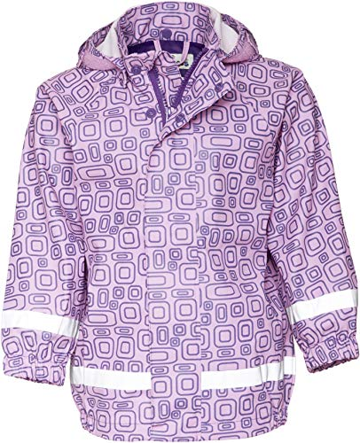 Playshoes Mädchen Regen-Mantel Ornament Regenjacke, Violett (Lila 19), (Herstellergröße: 116)