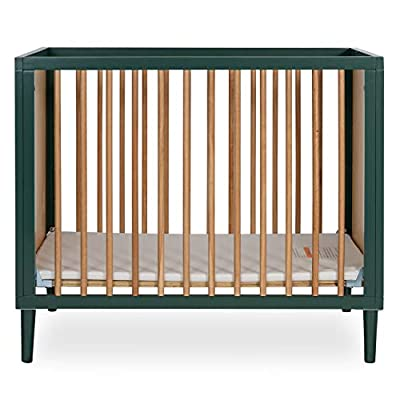 Dream On Me Lucas Mini Modern Crib with Rounded Spindles I Convertible Crib I Mid- Century Meets Modern I Portable Crib from AmazonUs/DREAY