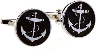 MRCUFF Anchor USN Pair Cufflinks in a Presentation Gift Box & Polishing Cloth