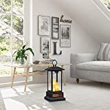 "Duraflame 28"" Electric Lantern with Infrared Heat and Remote Control, Black Heaters, 01"