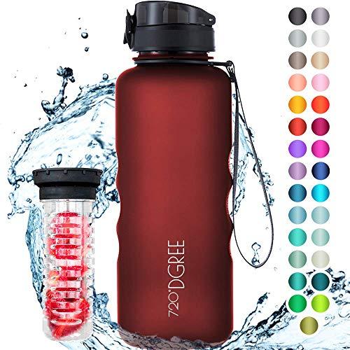 mächtig 720 ° DGREEuberBottle softTouch + Obstbehälter – 1,5 l – BPA-frei – Wasserflasche…