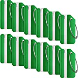 12 Pieces Luggage Tags Business Card Holder Aluminium Metal Travel ID Bag Tag for Travel Luggage Baggage Identifier (Green)