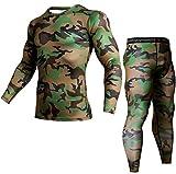 LucaSng Camiseta De Camuflaje Hombre Corriendo Compresión Yoga Atlético Traje Hombres Camisa Sport Fit Dry Trajes Transpirables Hombres Gym Aptitud Mallas Entrenamiento Chándales (2,S)
