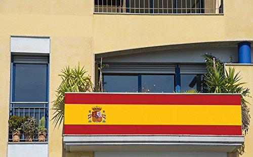 Bandera de España 250x150cm | Reforzada y con Pespuntes | Bandera de España Grande | Bandera Gran Formato | con Ojales Metálicos