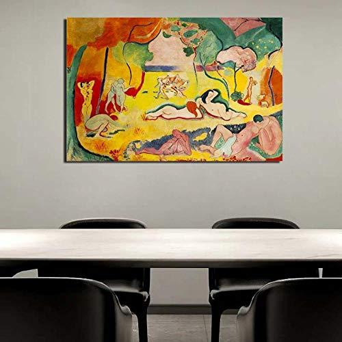 RuYun of Living Matisse Lienzo Pintura Sala de Estar decoración del hogar Moderno Arte de la Pared Pintura al óleo Carteles Fotos 40cm x60cm Sin Marco