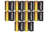PPOWER CR123A Litio 3V Foto Baterías 1600mAh CR123A Baterías para cámaras Arlo, Polaroid, Micrófonos, Linterna, No Recargables (20pcs)