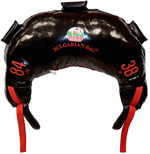 Bulgarian Bag - New Black PVC - Suples - The Original (Fitness, Crossfit, Wrestling, Judo, Grappling, Functional Training, MMA, Sandbag, Training Bag, Weighted Bag, Weight Bag) (84)