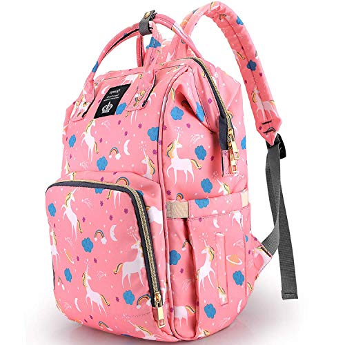 SAMAZ Unicorn Diaper Bag Large Nappy Bag Waterproof Multifunction Travel Backpack Fashion Mummy Daily Bag Durable Baby Bag for Mom Dad