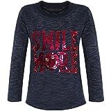 BEZLIT Mädchen Kinder Pullover Pulli Wende-Pailletten Sweatshirt 21495 Navy Größe 128