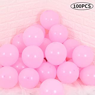 TONIFUL Pink Latex Balloons 10 inch Large Thickened Party Balloons for Helium Wedding Kids' Birthday Decorations(100 Pcs)