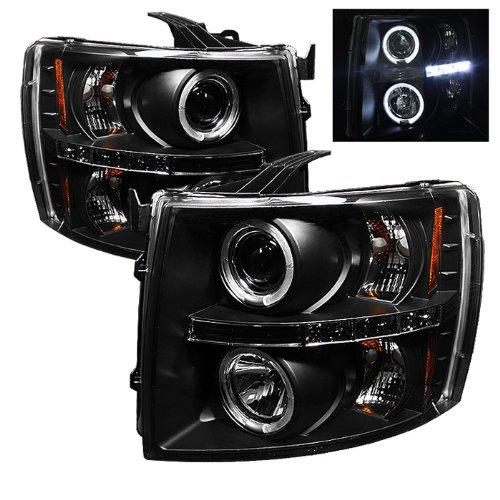 for Chevy Silverado 1500/2500/3500 Headlights LED Halo
