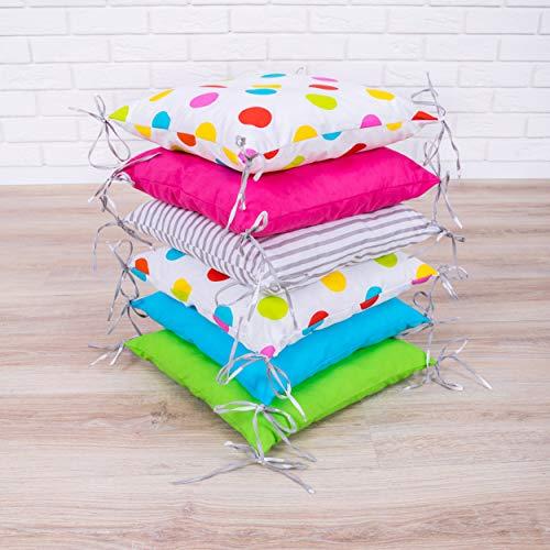 Baby Nestchen Bettumrandung 210 cm Design18 Bettnestchen Kantenschutz Kopfschutz für Babybett Bettausstattung
