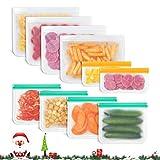 Godmorn Bolsas Reutilizables de Almacenamiento de Alimentos,Bolsas Congelar Reutilizables,10Paquetes Bolsas para Sándwiches,Verduras,Frutas.A Prueba de Fugas
