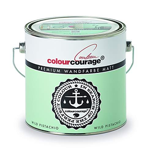 colourcourage L709449609 Premium matt Wild Pistachio 2,5L bunte Wandfarbe