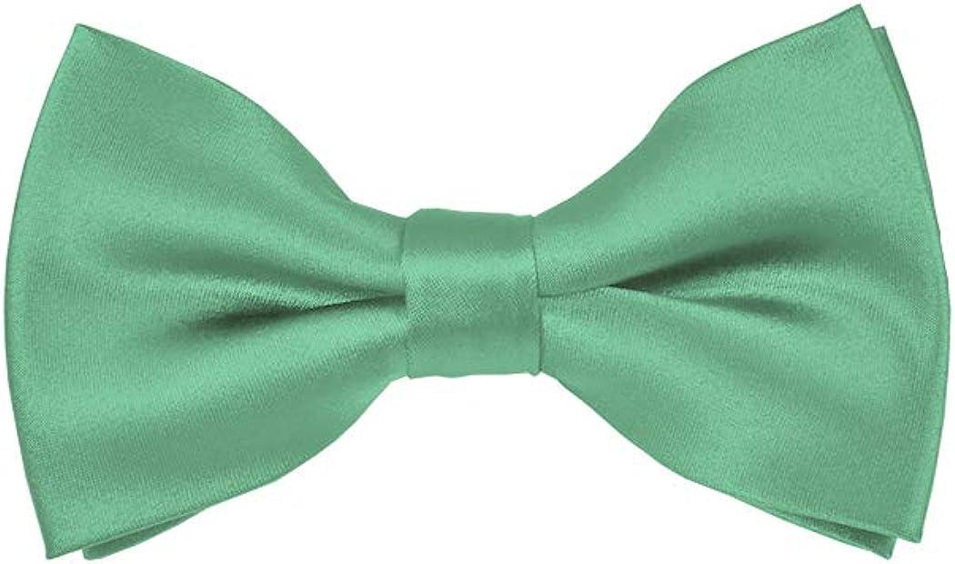 Solid Mint Green Men's Pre-Tied Bow Tie