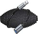 10FT USB 3.0 Extension Cable, NIMASO USB Male to Female Cord Extender Durable Braided Material Fast Data Transfer Compatible with Printer, USB Keyboard, Flash Drive, WIFI Adapter, Mouse, Hub, Webcam