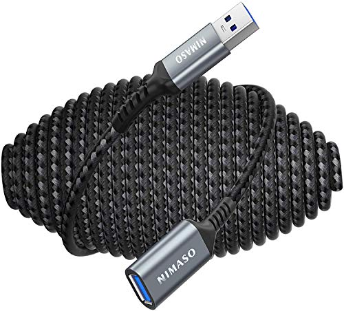 10FT USB 30 Extension Cable NIMASO USB Male to Female Cord Extender Durable Braided Material Fast Data Transfer Compatible with Printer USB Keyboard Flash Drive WIFI Adapter Mouse Hub Webcam