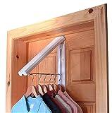 InstaHanger Closet Organizer, The Original Folding Drying Rack, Wall Mount, Includes 'Over Door Bracket' For 1 3/8' Thick Doors Only