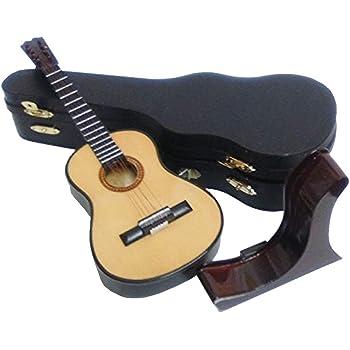 Ciaf 2503-1162-Guitarra española Decorativa Miniatura en Madera, 19 centimetros. con Estuche y Soporte: Amazon.es: Hogar