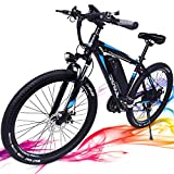 3Y 350W Electric Bikes for Adults with Removable 36V 10.4Ah Samsung Battery 26'' Adult Electric Bicycles 20MHP Ebike Shimano 21 Speed Gears