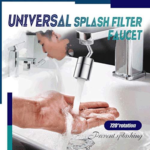 Universeller Spritzfilter-Wasserhahn, 720 ° drehbarer Wasserauslass Wasserhahn-Sprühkopf mit 4-lagigem Netzfilter, sauerstoffangereicherter Schaum, auslaufsicheres Design mit doppeltem O-Rin