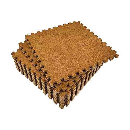 Amazon Brand - Umi 30 x 30cm ineinandergreifende Kurzer Haufen Bodenmatten aus Schaumstoff (9-teiliges Set) (Braun)
