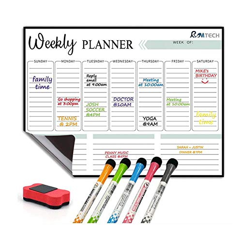 LIANGLEY Calendario de Pared 2021 de – Utilizado para útiles Escolares en casa o decoración de Oficina en casa, reutilizable17x12''