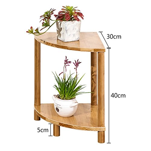 ILQ Support simple de fleur de support de fleur de bambou simple moderne, support de fleur de salon de fleur de plate-forme succulente de fleur,40 * 30 * 30 cm