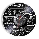 KDBWYC Reloj de Pared para Entrenamiento de natación, competición de...