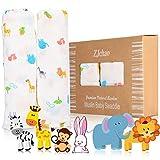 Mantas de muselinas paños de bebé 2-paquete, 120 x 120 cm El mejor regalo para...