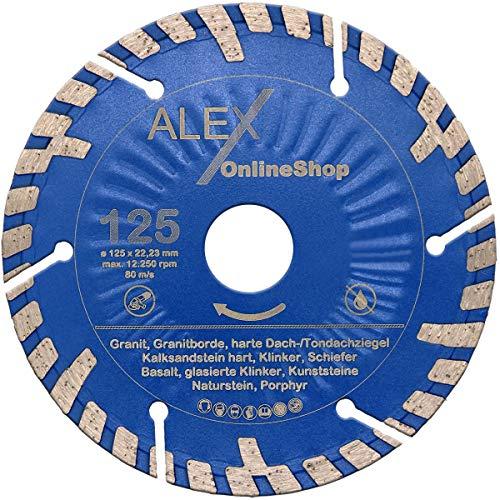 2x PREMIUM KS Diamant-Trennscheibe Ø 125 mm für harten Kalksandstein passend für Hilti DC-SE 19 / DC-SE 20 Diamantfräse Schlitzfräse Mauernutfräse Wandfräse 125mm