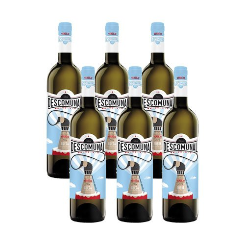 Descomunal rueda verdejo 2017-Vino blanco verdejo-6 botellas- 0.75L