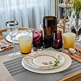 Tischset Abwaschbar, Aibesser Platzsets Abwischbar 6er Set, Platzdeckchen Abwaschbar PVC, Hitzebeständig Abgrifffeste und Waschbare für Küche Hause Restaurant und Hotel - 5