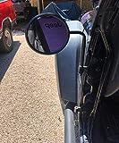 Circular Adventure Door Hinge Mirrors Side View Shake-Proof Door Off Mirror for All Jeep Wrangler JK,JL(07-18), 2Pcs (Textured Black)