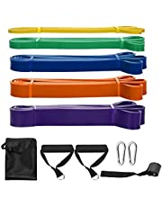 SKY TOUCH Pull Up Assist Bands,8 Packs Pull Up Assist Bands Set Resistance Loop Bands Powerlifting Exercise Stretch Bands with Door Anchor and Handles