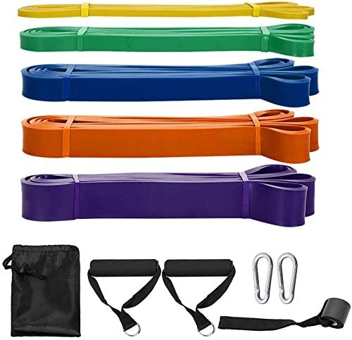 SKY TOUCH Pull Up Assist Bands,8 Packs Pull Up Assist Bands Set Resistance Loop Bands Powerlifting Exercise Stretch B...