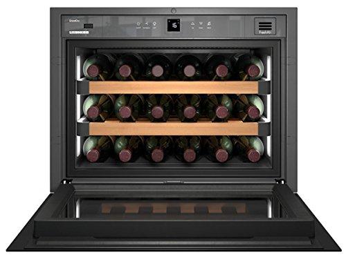 Liebherr WKEgb 582 GrandCru Integrado Nevera de vino termoeléctrico Negro 18botella(s) A+ - Enfriador de vino (Integrado, Negro, Negro, 3 estanterías, 1 puerta(s), Negro)