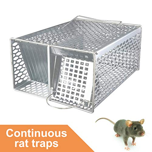 ROCKBIRDS Mouse Trap - Continuous Mouse Traps, Humane Mouse Trap That can Catch Many Mice at The Same Time,Reusable for Indoor and Outdoor Use,Safe for Kids and Pets (Silver)