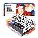 CSSTAR Compatible Cartouche d'Encre Replacement pour HP 364 364XL pour Photosmart 5520 5510 5524 B109a Plus B210a, OfficeJet 4620, DeskJet 3520 Imprimante - 3 Noir, 1 Cyan, 1 Magenta, 1 Jaune
