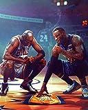 123 Life Kobe Bryant Poster,Lebron James Poster, Michael Jordan Poster,Basketball Poster All Star Tribute Fan Memorabilia Gift for Boys Wall Art Bedroom Décor (No Framed,12' Wx18 H)