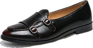ビジネスシューズ メンズ ローファー モンク レッド 靴 革靴 メンズ モンクストラップ スリッポン ローファー スリッポン フォーマル 幅広 防滑 紳士靴 ブラック ブラウン コンフォートシューズ ウォーキングシューズ