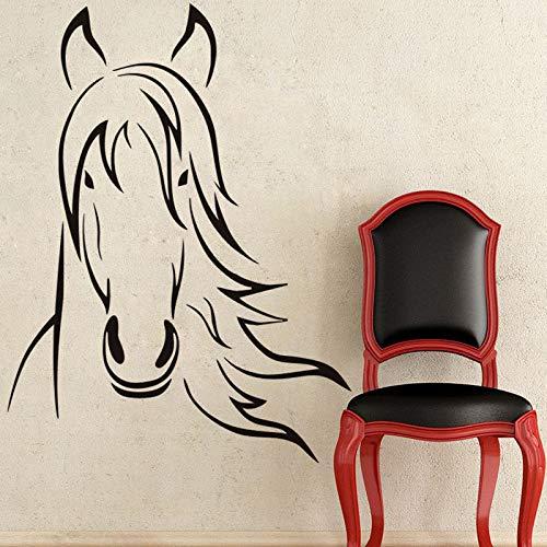 yaonuli Pferdekopf Wandtattoo Porträt Aufkleber wasserdicht Muster Junge Schlafzimmer Wandaufkleber 55X50cm