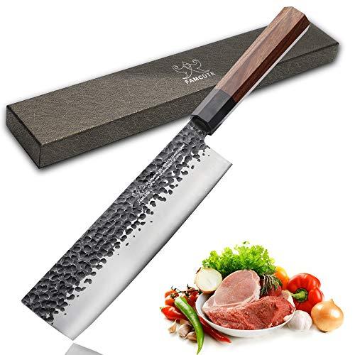 7 inch Nakiri Knife, 3 layer 9CR18MOV clad steel w/octagon handle Gyuto Knife Cut Vegetables Cut Meat / Fish Fruits