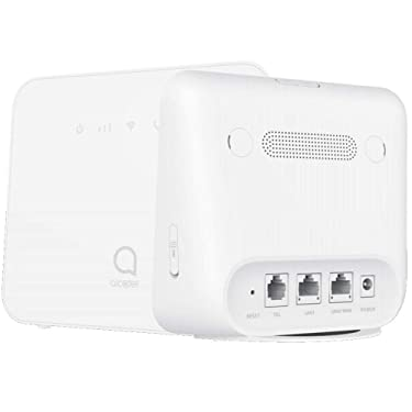 Alcatel Link HUB LTE Home Station w/Ethernet Port, Mobile WiFi Hotspot (US + Global 4G LTE) GSM Unlocked up to 150mbps, Upto 32 Users HH42NK (AT&T, T-Mobile, Metro, Cricket) (White)